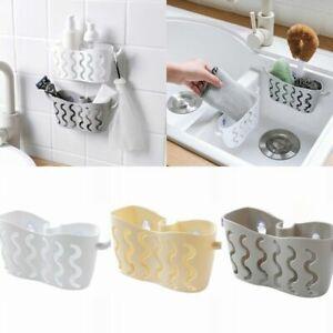 Kitchen-Bathroom-Sponge-Sink-Tidy-Holder-Strainer-Suction-Organizer-Storage-Rack