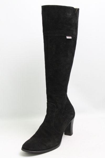 Stiefel schwarz Leder Gr. 37 (UK 4)