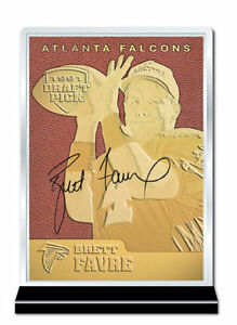 1991-NFL-Football-BRETT-FAVRE-ATLANTA-FALCONS-23K-GOLD-CARD-Rookie-DRAFT-PICK