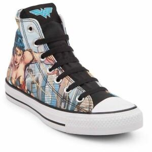 dba1217cf180 Details about NEW Converse Chuck Taylor All Star Hi DC Comics Wonder Woman  Rare Print