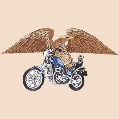Patchs Gross quelquechose APPLICATION 25 x 14 cm aigle moto Eagle Bike 08600