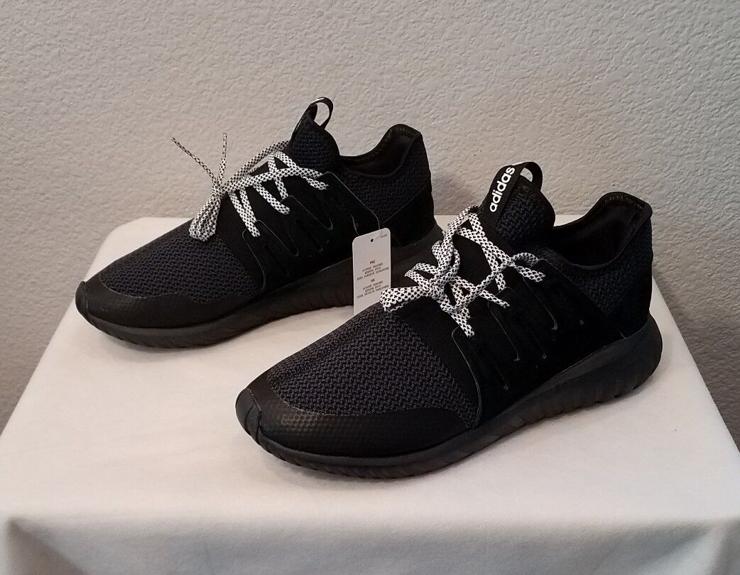 NEW ADIDAS ORIGINALS TUBULAR RADIAL SHOESCORE BLACKS76719MEN'S SIZE 10