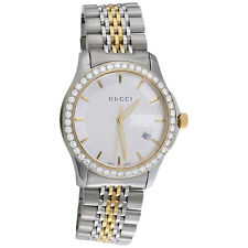 06dccdfb0cd Gucci Ya126409 Diamond Watch G-Timeless 38mm Two Tone Yellow S. Steel PVD 2