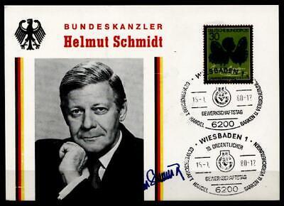 Brd 1978 Dauerhaft Im Einsatz Sonderkarte.sost Bundeskanzler Helmut Schmidt Und Gewerkschaftstag