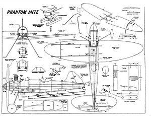 100% Vrai Phantom Mite 1948 Plan Avec Pièces Patterns-afficher Le Titre D'origine