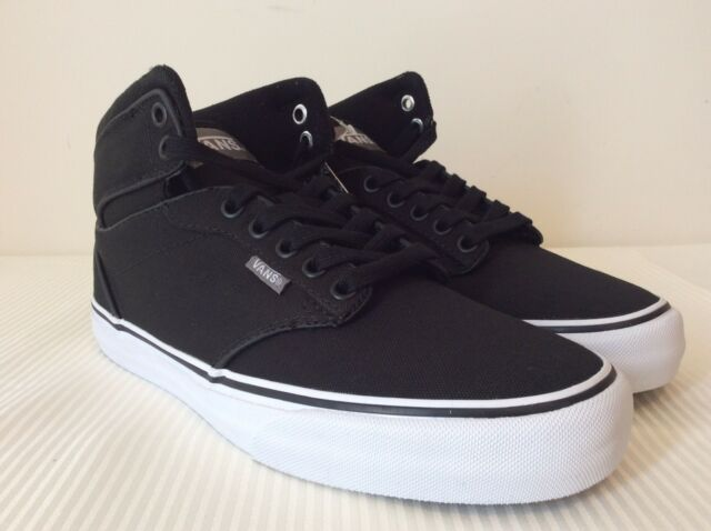 5c9db962d7be Vans Atwood Hi Canvas Black White Sneakers VN-OVG3187 NWOB DS Men s SZ 6.5