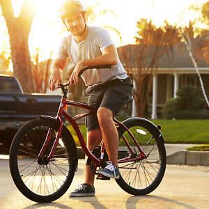 "White Cruiser Bike 26/"" Men Huffy Traditional Comfort Commuter City Beach Bicycle"