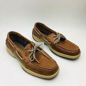 Sperry-Top-Sider-Men-039-s-Intrepid-Casual-Boat-Shoe-Tan-Leather-Pick-a-Size