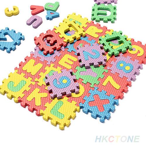 36x Baby Child Kids Stunning Alphabet Number EVA Puzzle Foam Teaching Toy Mats