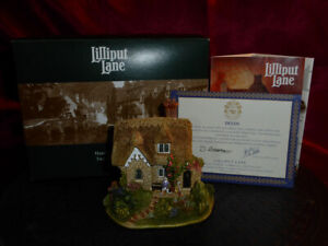 LILLIPUT LANE Candy Cottage L2327 Sales Promotion S.E. Model Cottage Boxed+deeds