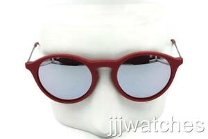 7afb0a4e520 Ray-Ban Round Bordeaux Gunmetal Pink-Silver-Mirror Sunglasses RB4243 ...