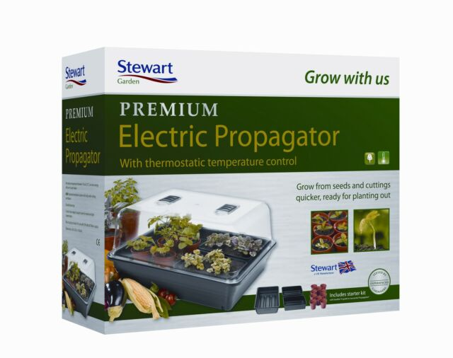Stewart Outdoor 52cm Thermostatic Control Heat and Grow Electric Propagator