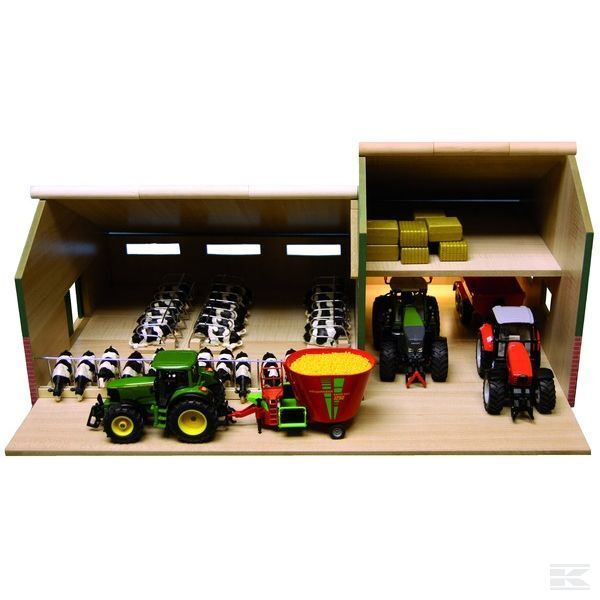 Globe Farming Cattle Shed With Barn 1 32 32 32 Scale Model Toy Gift 30cfdc