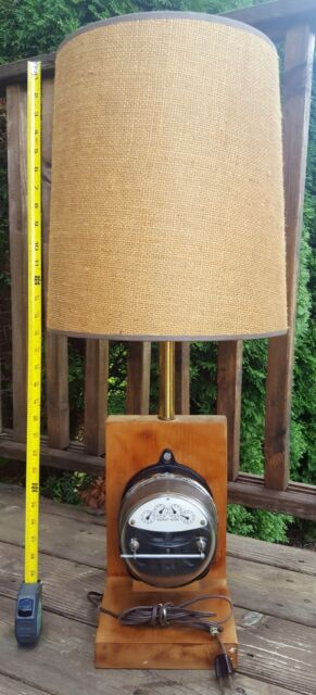Details About Vintage Steampunk Ge I 14 Electric Meter Lamp W Shade Works 32 Tall
