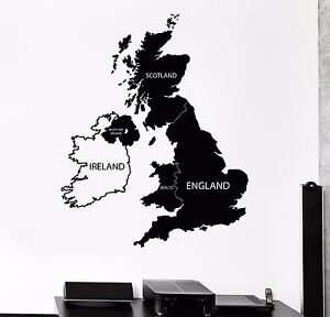 Vinyl wall decal great britain united kingdom uk map stickers 489ig image is loading vinyl wall decal great britain united kingdom uk gumiabroncs Images