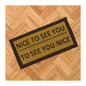 "# Dolls House 6836 felpudo /""Nice to See You/"" abstreicher 1:12 casa de muñecas nuevo"