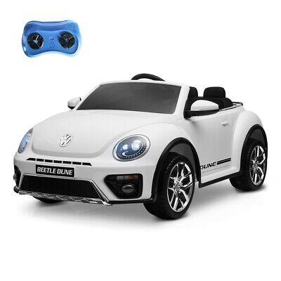 Coche de bateria 12V niños 3-8 años Volkswagen Beetle oficial control remoto –Pl