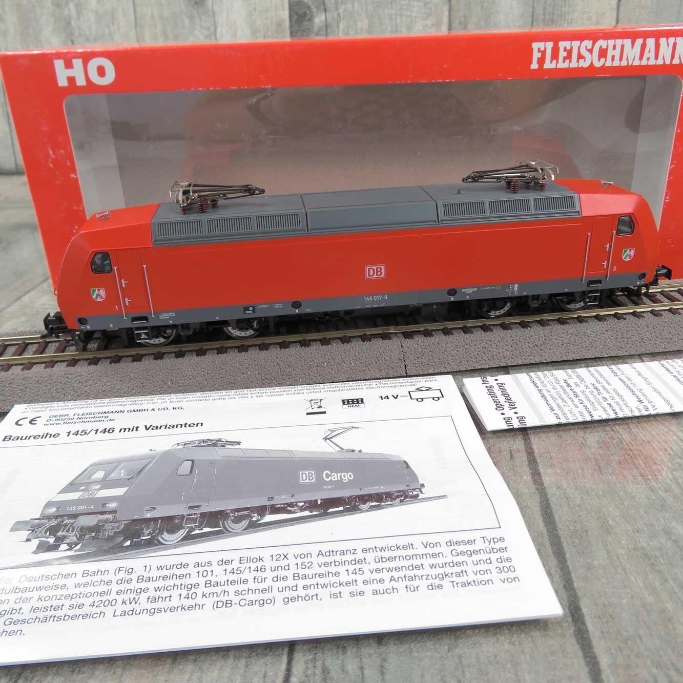 FLEISCHMANN 482410 - HO - DB - E-Lokomotive 146 017-9 - mit DSS - OVP -  R27580
