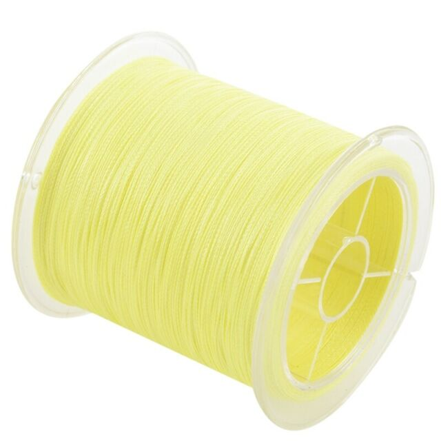 300M 50Lb 0.26Mm Fishing Line Strong Braided 4 Strands Color:Yellow S4C3