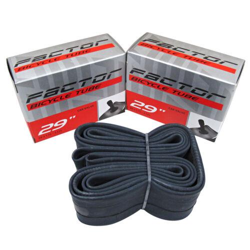 """2x Factor 29er MTB Tubes 29/"""" x 1.75-2.125 Car Valve Schrader Inner Mountain Bike"""