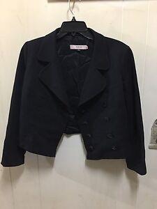 Red Valentino Crop Blazer Black 44
