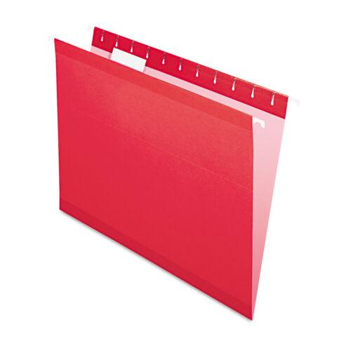 Pendaflex Reinforced Hanging Folders 1//5 Tab Letter Red 25//Box 415215RED