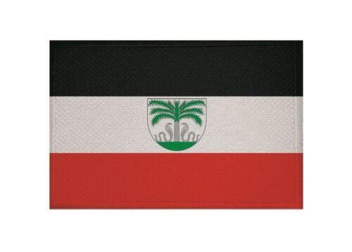 Ricamate tedesco Togo bandiera bandiera aufbügler Patch 9 x 6 cm