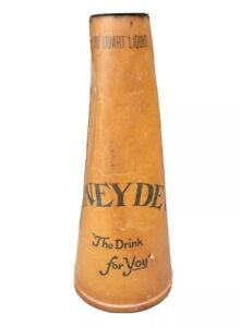 """1930s Honey Dew """"The Drink For You"""" Soda Wax Paper Bottle"""