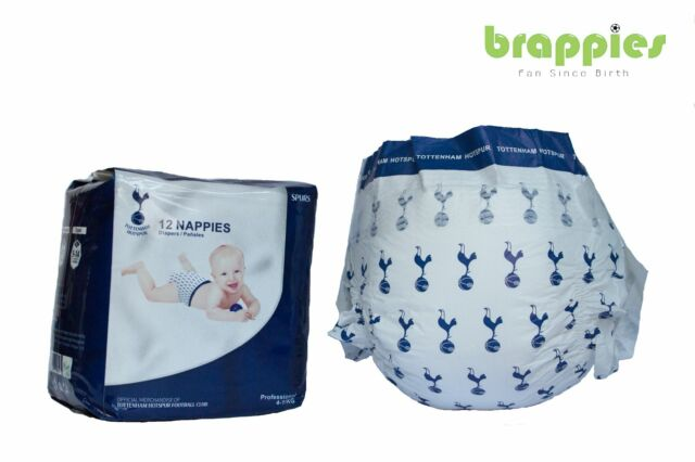 Official West Ham Untd Baby Nappies size 4-11kg Hammers Present Brappies