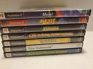 Lot-Of-7-Playstation-2-Games-Mojo-Pacman-World-2-Jeopardy-Etc-titles-pic