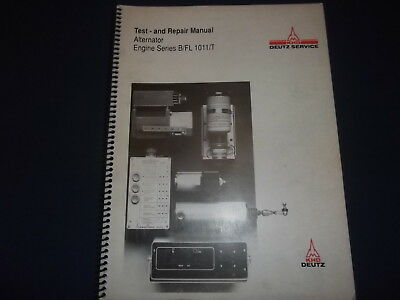 Khd Deutz Alternator Engine Series B Fl 1011 T Service Repair Workshop Manual Ebay
