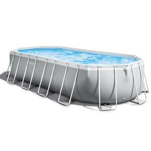 Intex-20-039-x-10-039-x-48-034-Prism-Frame-Oval-Swimming-Pool-Set-Ladder-Cover-amp-Pump