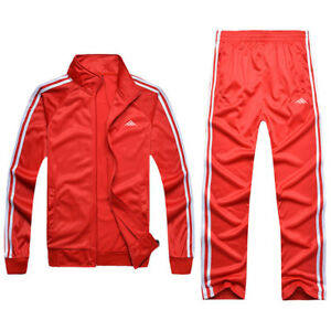Men-TrackSuit-Jogging-Jacket-Sport-Suit-Sets-Trousers-Pants-Sportswear-S-M-L-XL