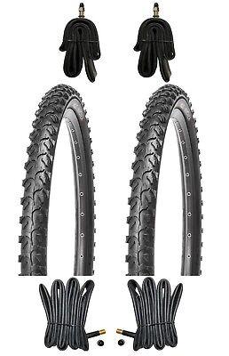 Schl/äuche mit Dunlopventile Kujo MTB Reifen Set 24x1.95 inkl