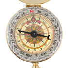 Brass Pocket Watch Style Outdoor Camping Hiking Compass Navigation Keychain JR