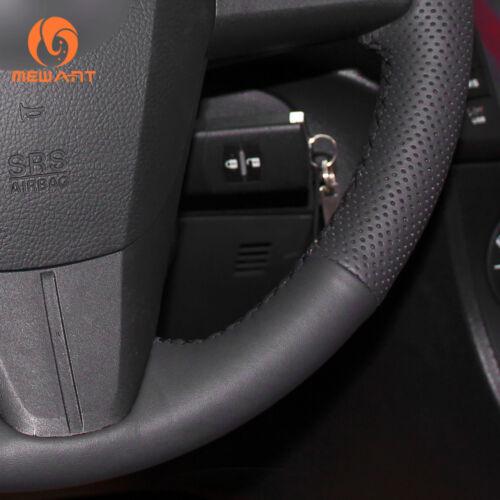 Durable Black PU Soft Leather Steering Wheel Cover for Mazda 3 Mazda 5 CX7 CX9