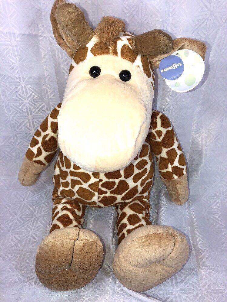 "NWT-24"" 2012 Babies R Us Giraffe Large Plush Stuffed Animal Toys R Us"