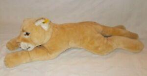 "Steiff Molly Puma Large 28"" Stuffed Plush 0385/75 Ear Button Tag"