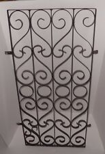 Vintage Scrolled Metal Door Gate Guard Trellis Parts Salvage Art