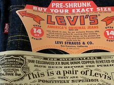 LEVI LVC 551 ZXX VTG 1962 BIG E SELVEDGE DARK DENIM JEANS 29x36 555. USA Z XX