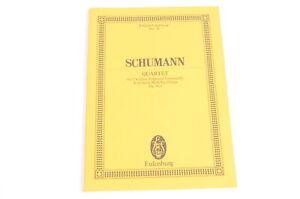 Schumann-Quartet-Opus-41-1-Eulenburg-Partitur-2-Violinen-Viola-Violoncello-Noten