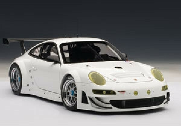 Autoart Porsche  911 (997) gt3 RSR 2010 Plain Body Version blanc 1 18 81073  contre authentique