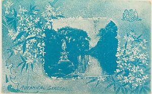 RARE-MELBOURNE-BOTANICAL-GARDENS-VICTORIA-1906-POSTCARD