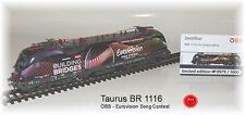 RailAd 1038 AC locomotive électrique Taurus ÖBB 1116 170 SONG CONTEST