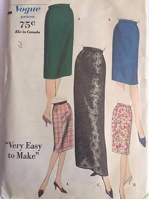 Vogue Sewing Pattern 5376 Misses Skirt Vintage Cut Waist 26 Hip 36