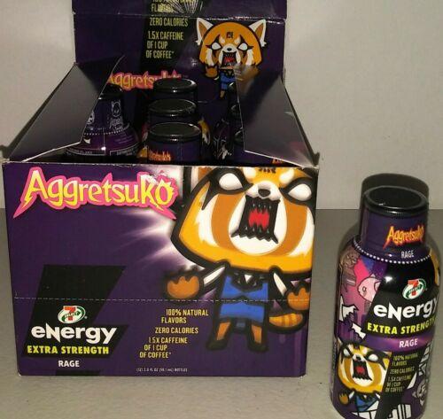 Lot of 15 Sanrio Aggretsuko Rage Energy Drink Shots 2 oz Anime New