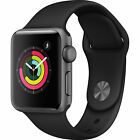 Apple Watch Series 3 GPS 38 mm Space Gray Aluminum Case with Black Sport Band - MTF02LL/A