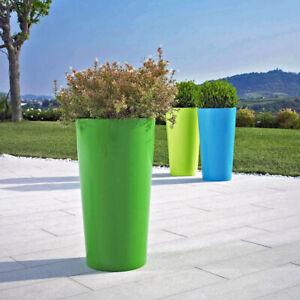 3 Stück hohe Blumentöpfe mit Einsatz in 3 Farben Euro3Plast Tuit Übertopf Vasen