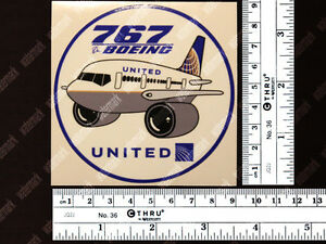 UNITED-AIRLINES-UAL-BOEING-B767-B-767-PUDGY-DECAL-STICKER-3-5x3-5-in-9x9-cm