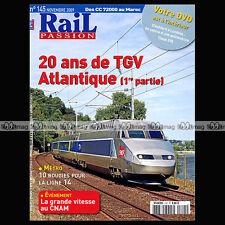 RAIL PASSION N°145 TGV ATLANTIQUE CNAM METRO LIGNE 14 230-D 116 NORD CC 72000